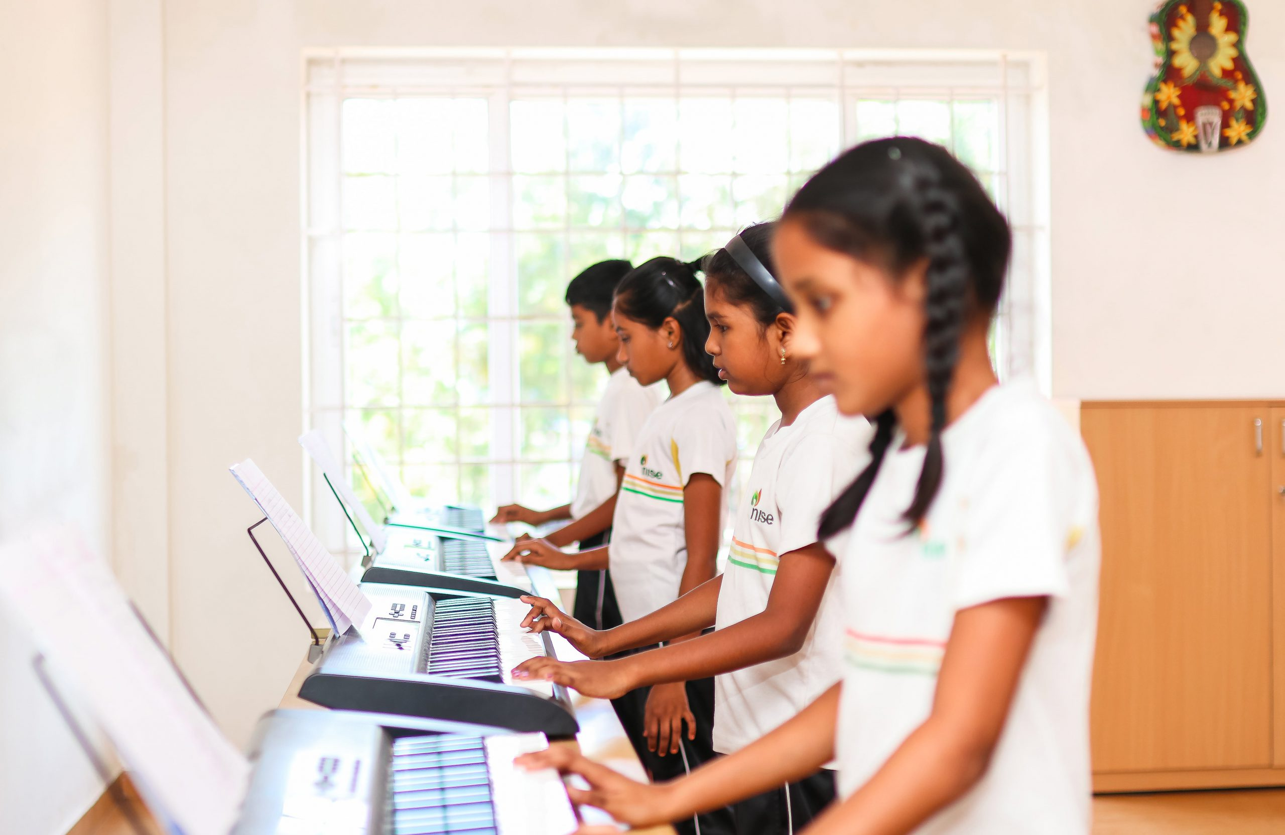 Music Class for NISE Students - icse syllabus schools in coimbatore
